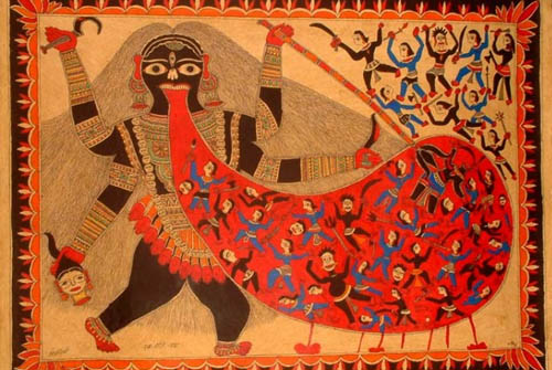 Goddess Kali and Kali chaudas