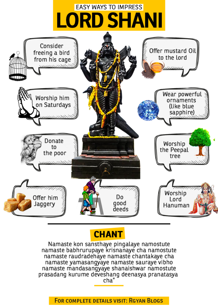 Easy Ways To Impress Lord Shani - Rgyan