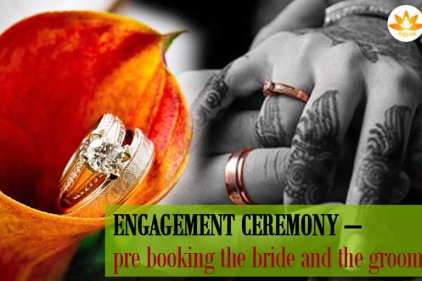 Engagement Ceremony – pre booking the Bride and the Groom