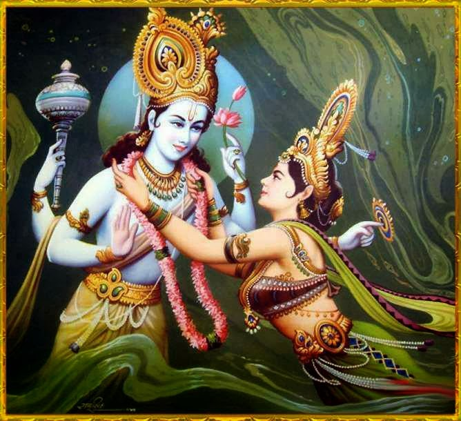 Lord Krushna and Mahalakshmi