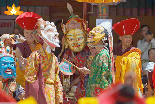 Indian pilgrims-Hemis Festival