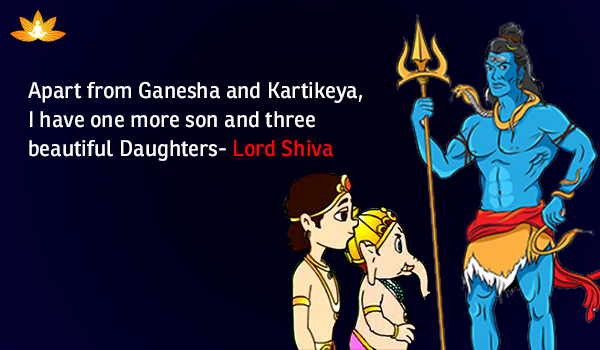 Lord Shiva: The Father of Three Daughters and Three Sons