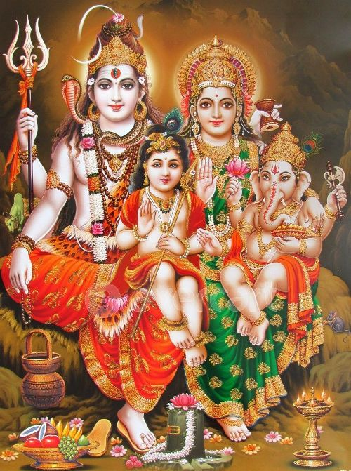 Lord ganesh, Father Shiva and Maa Parvati