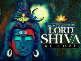 how to worship shiva puja at home