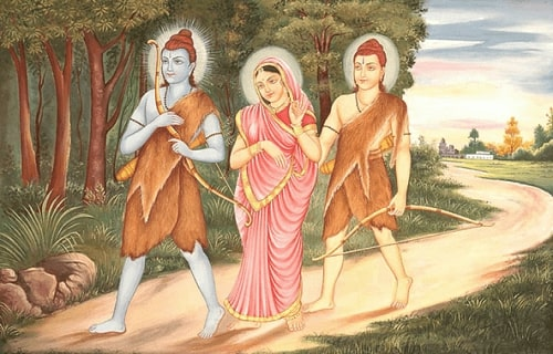 Lord Rama sent to exile
