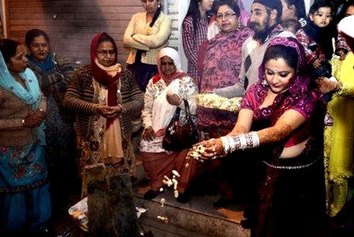 Lohri Celebration of a New Bride