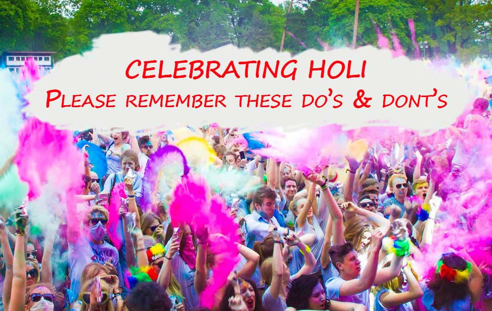 Holi Safety Tips