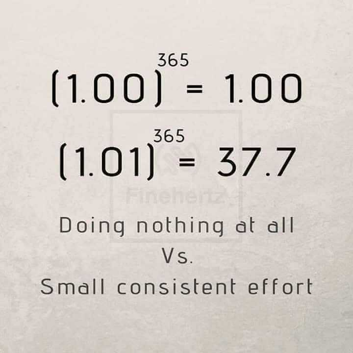small effort can make a big difference...